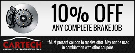 10% Off Any Complete Brake Job
